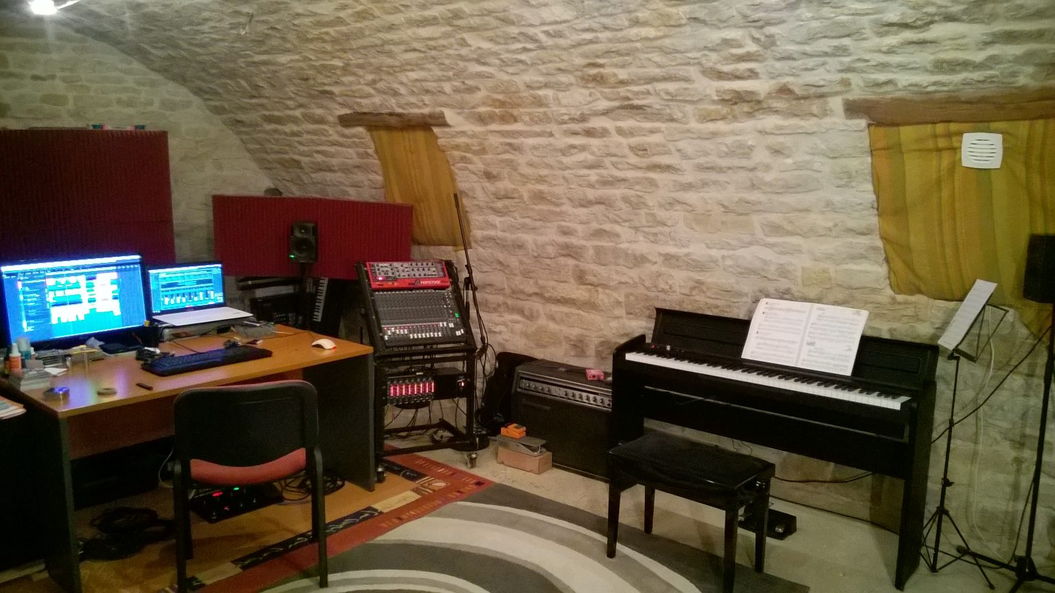 Salle de cours de guitare et de piano à Vaux-sous-Aubigny