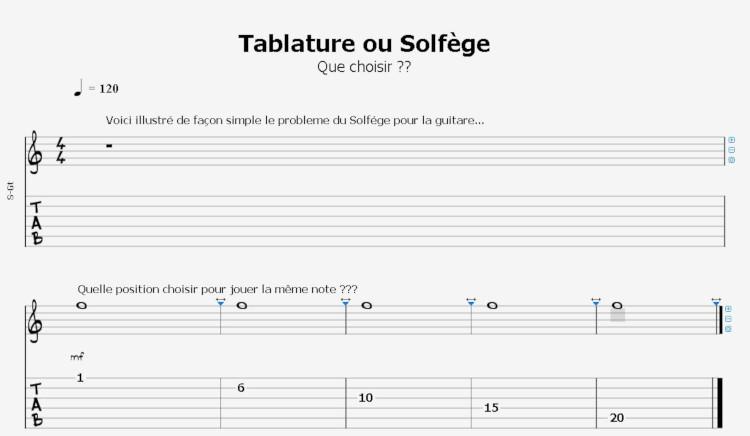 Solfège ou tablature pour apprendre la guitare ?