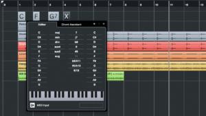 Impression écran de Cubase Pro 10 Logiciel d'édition musicale. Thierry Fouet professeur de musique enseigne également la MAO en Haute-Marne