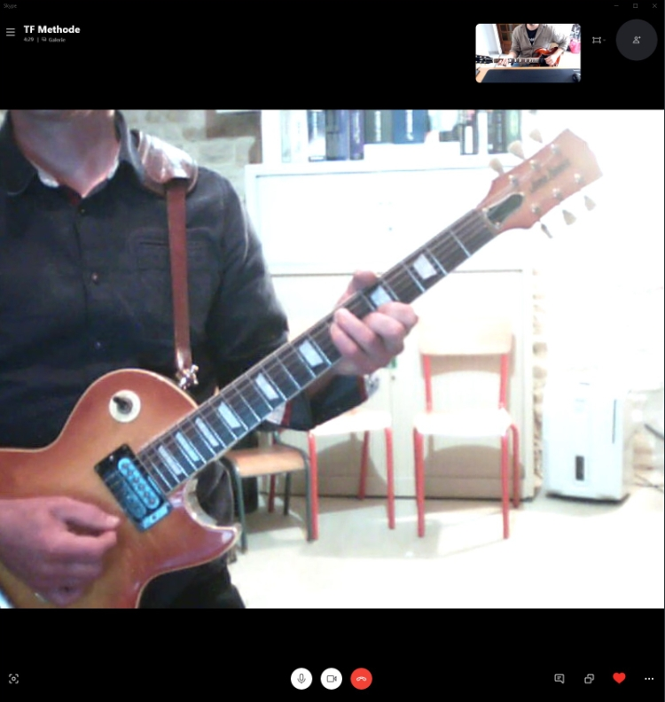 Apprendre la guitare à distance via Skype - TF Methode